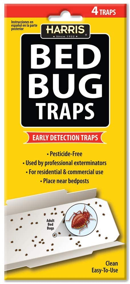 Harris Bed Bug Early Detection Glue Traps (4-Pack)
